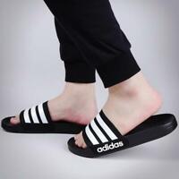 Adidas Men Sandals Slides Adilette Cloudfoam Black Beach Black Gym AQ1701 New