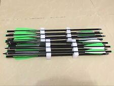 """12PK 18 inch crossbow arrow bolt crossbow aluminum arrow with 4"""" arrow fletching"""