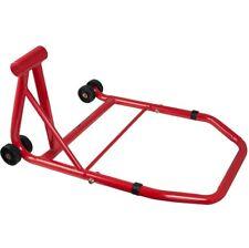 Rear Bike Paddock Single Stand Back Chock Motorcycle Motorbike Garage Red