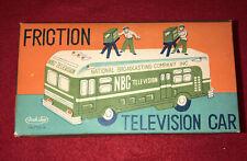 Rare Asahi-ATC Tin Toy NBC Broaodcasting Television Car Circa 1950's
