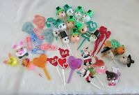 Birthday Cake Toppers Vintage Plastic Lot of 40+ Christmas, St. Pats, Baby, more