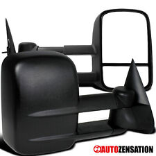 Pair 1999-2007 Chevy Silverado GMC Sierra Manual Extending Towing Mirrors