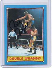 RAYMOND ROUGEAU 1987 TOPPS AUTOGRAPH CARD HAND SIGNED SUPER RARE! WWF SUPERSTAR