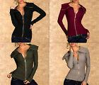 Gilet/Vest Femme Taille S/M et L/XL noir/prune/kaki/taupe 49% laine 5% cachemire