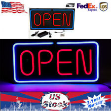 Neon Open Sign 24x12 inch Led Light 30W Horizontal 60x30cm 30W Power Adapter Us