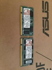 1 GB Kit Kingston 512mb X 2 DDR 1 KVR333S0 Vintage Memory Ram Sodimm Laptop