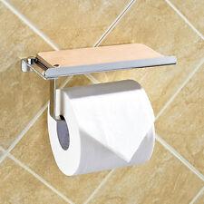 USStock Wall Mounted Bathroom Toilet  Holder Rack Stainless Steel Roll Paper G_E
