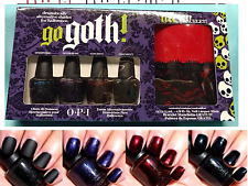 OPI 4p GO GOTH Halloween MINI Nail Polish UNRIPENED Nevermore SANGUINE Obscurity