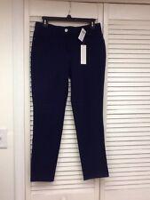 Chico's So Slimming Getaway 5 Pocket 28IN Ankle Pant, Dark Blue, Sz. 0, NWT