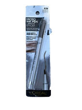 L'oreal Brow Stylist Micro Ink Hairlike Tint Effect Pen 639 BRUNETTE Comb Tip
