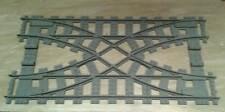Compatibile 7996 Doppio scambio x treno LEGO, Train Rail Crossing for RC Trains