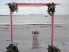Wedding Arch Silk Flowers Coral Bouquet Beach Burlap Decorations