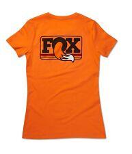 FOX Factory Women's Heritage Crew Neck Tee, Orange 100% Authentic! Brand New Mtn