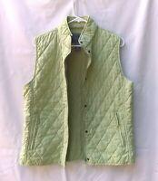 Van Heusen  Women's Quilted Two Pockets Zip Up Vest  Sz Medium