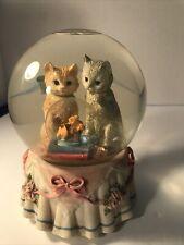 San Francisco Music Box Company Snowglobe Cats/Fish Musical