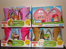 Little People Play Set Lot Queen Robin Hood Maid Marian Figure Pop Castle Bakery