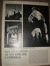 Photo article Son et lumiere at Southwark Cathedral 1965 ref BW