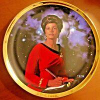 "UHURA - Star Trek 25th Anniversary Plate - ""Hamilton Collection"" - Commemorative"