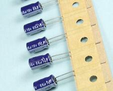 50pcs Nichicon VX Radial Electrolytic Capacitor 68uF 16v 85c, 6.5mm x 11mm