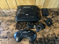 Sega Genesis Model 2 MK-1631 Black Console W/ Controller, & Power Adapter Only
