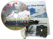 DIY CD Clock KIT. Steam Train. Wall or Desk Clock. Kent & East Sussex Railway