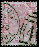 SG141, 2½d rosy mauve PLATE 16, FINE USED. Cat £80. OD