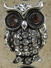 Owl Brown Eyes Noosa Style Snap Button 18/20mm