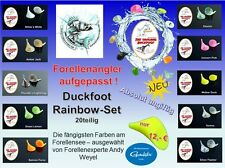 Duckfoot 0,60€/Stk 20 Stück in 10 Farben The Original Andy Weyel Rainbow Edition