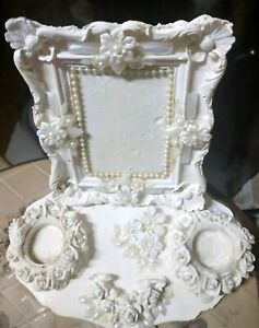 Candle Vintage Christmas Candlestick Ornate Wedding Placecard Holder Photo Frame