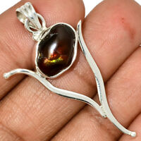 Mexican Fire Agate 925 Sterling Silver Pendant Jewelry AP37825 62H