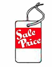 Sale Price Large , white stock, red ink, WITH String, 1000 Tags SP8020WH