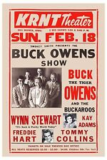 Buck Owens & Others at KRNT Theatre Concert Poster