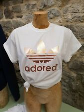 More details for adored rose gold logo tee t shirt stone roses madchester hacienda ian brown