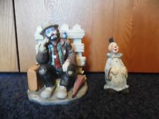 Emmett Kelly Jr - Flambro Bookend - Picket Fence - Clowns