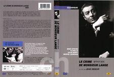 Le crime de Monsieur Lange, The Crime of Monsieur Lange (1936)   DVD NEW