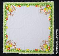 Tischdecke HASE Tischdeckchen OSTERN Osterdeckchen OSTERHASE Deckchen 75x75cm
