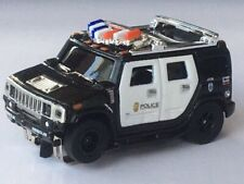 NOS Autoworld Xtraction Flame Thrower 04 Police Hummer H2 HO Slot Car run on AFX