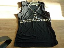 Lot of 2 Worthington Women's Sequin Tank Top Black Blouses L & XL