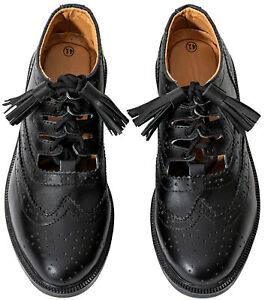Ghillie Brogues Black Leather Ghillie Brogues Scottish Kilt Shoes