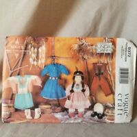 """Vogue Craft Sewing Pattern American Indian Doll Clothes 18"""" Linda Carr #9372 UC"""
