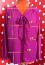 3 SUISSES sz 46 L blouse silky top women shirt