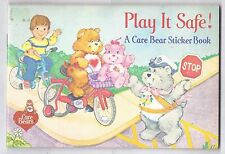 1984 CARE BEARS Sticker Book Play it safe!