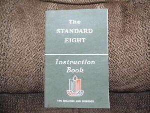 Original The Standard Eight Instruction Book  Part no 501527/1 1st Edd 3rd print