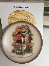 "Goebel M J Hummel ""On Our Way"" Miniature Porcelain Plate with Original Box,Germa"