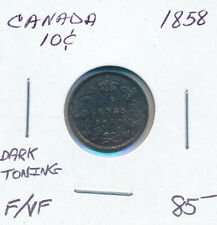 CANADA 10 CENTS 1858 - F/VF