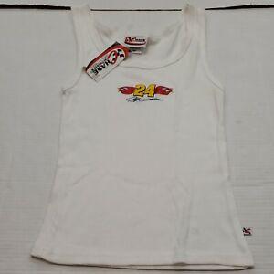 NWT Jeff Gordon Racing NASCAR White Sleeveless Shirt Tank Top Women's Medium New