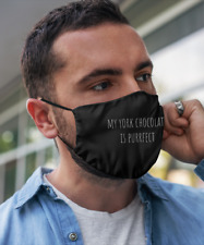 My York Chocolate is Purrfect Cute Cat Face Mask Men Women