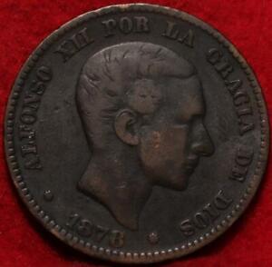 1878 Spain 10 Centimos Foreign Coin