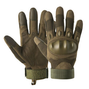 Tactical Rubber Protect Shell Gloves Men Army Military Combat Training Mittens