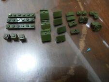 Non-Lego LOT of Bricks - Dark Green Color 23 pieces - Check Below